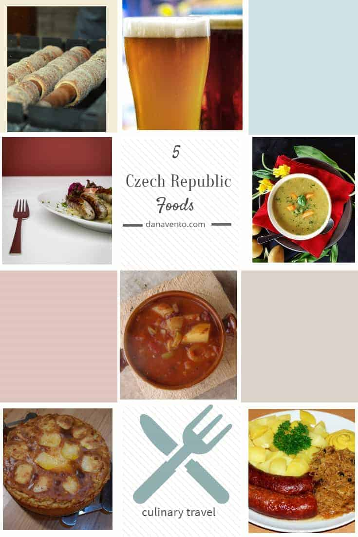 5 Czech Republic Foods You Have to Experience, soup, beer, sausage, meats, street eats, outdoor, fun, party, Prague, Michelin Star, all good, traveling foodie, gastronomy, Traveling gourmand, foodie, culinary travel, Czech Republic, nomnomnom, pilsner, klobasa, Guláš (goulash), Česnečka (Garlic Soup), Chimney Cakes, Trdelnik