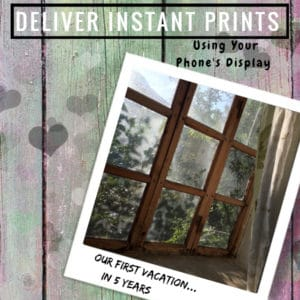 How To Deliver Instant Prints Using Your Phone's Display