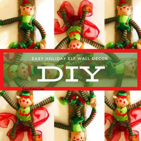 Super Easy DIY Elf Holiday Wall Decor