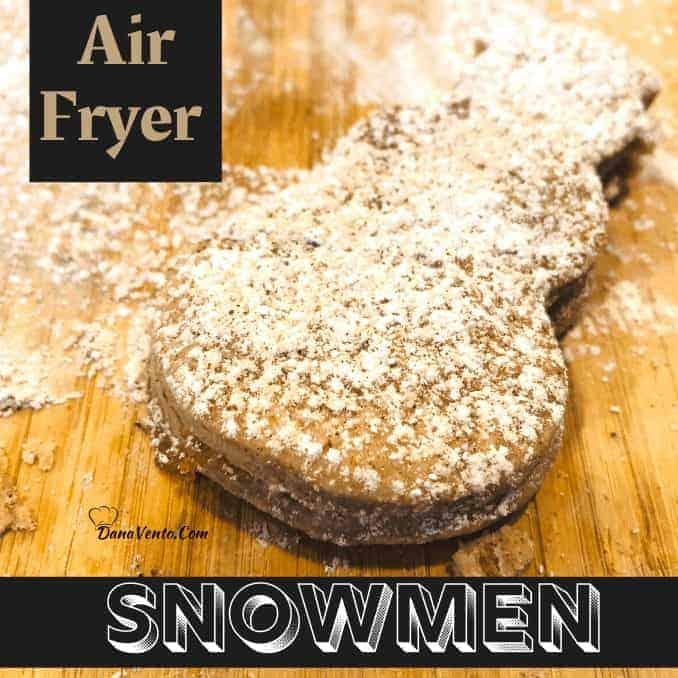Air Fryer Snowmen with Brown Sugar Cinnamon Filling