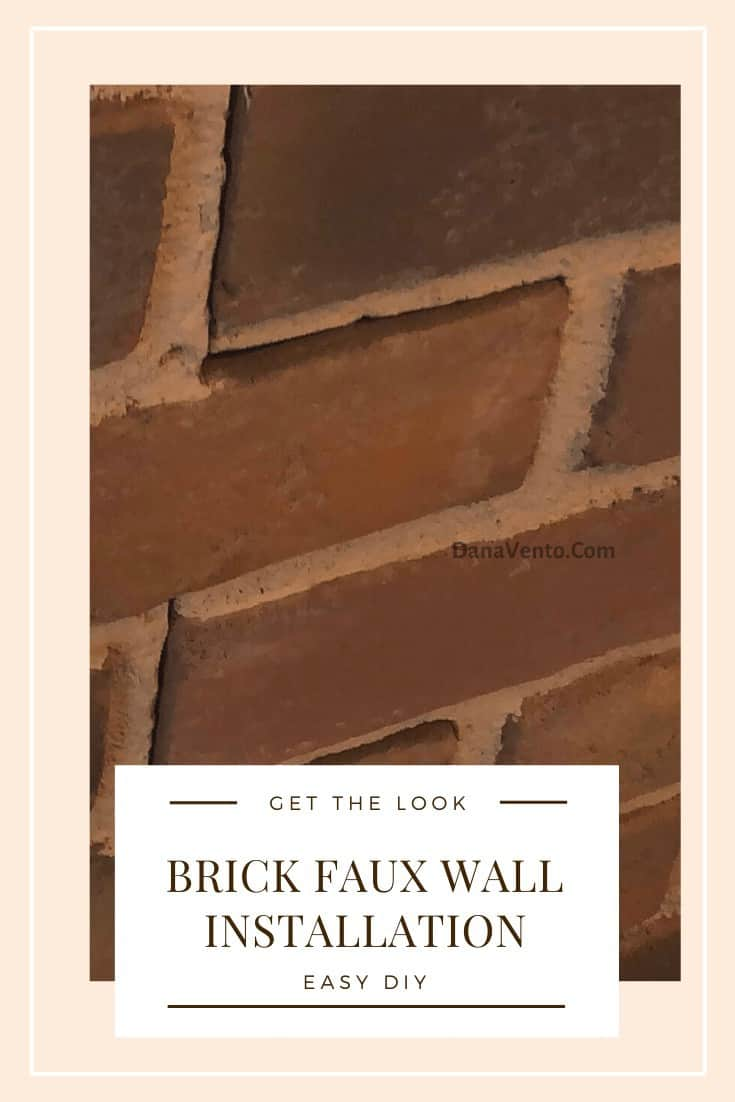Looks like Grout to me! Brick Faux wall DIY