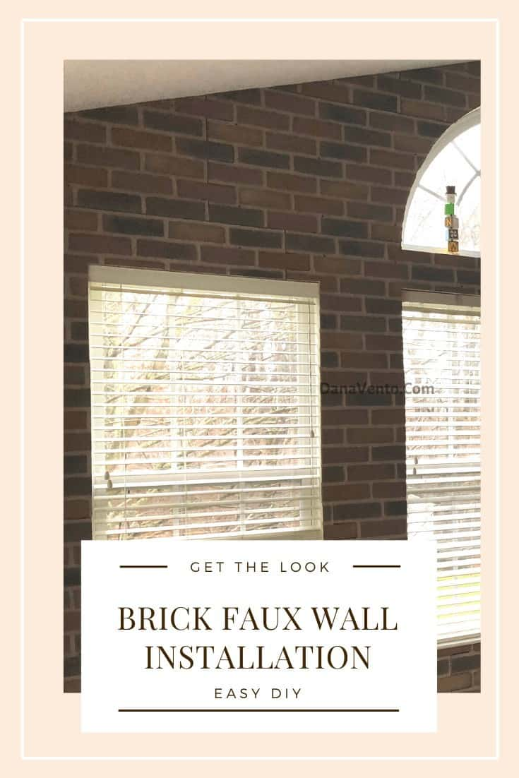 Brick Faux Wall Installed