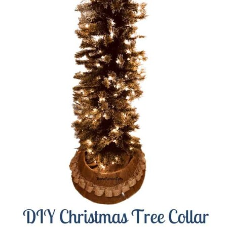 DIY Christmas Tree Collar For Under $6 and It's Easy To Make