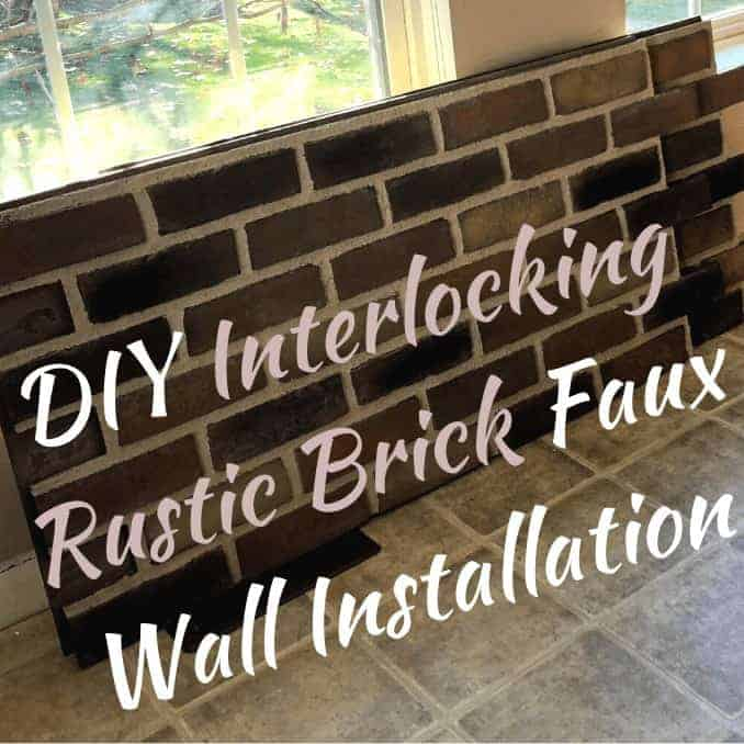 Install Faux Rustic Brick on A Wall! DIY