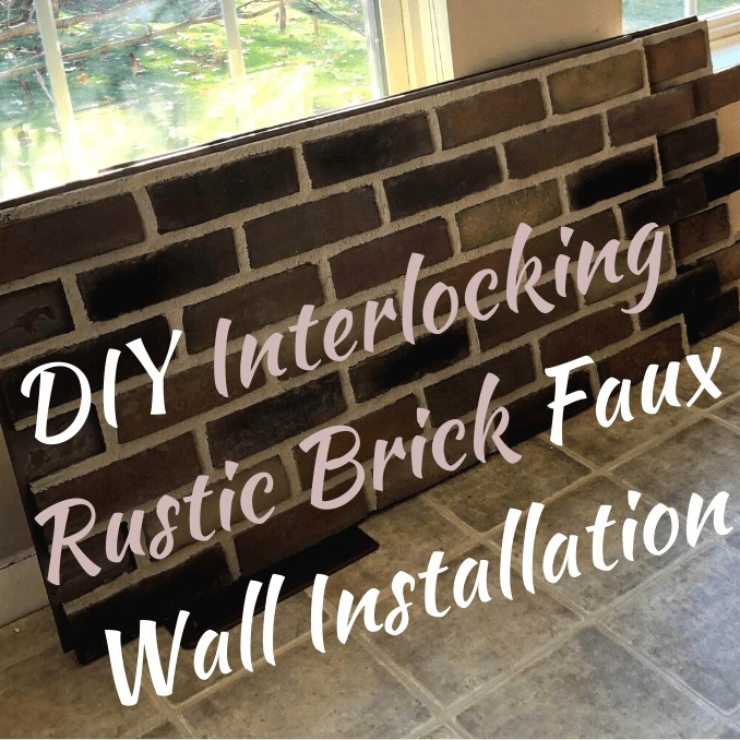 DIY Interlocking Rustic Brick Faux Wall Installation panels