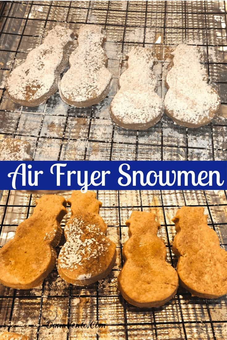 air fryer snowmen fried some filled some not