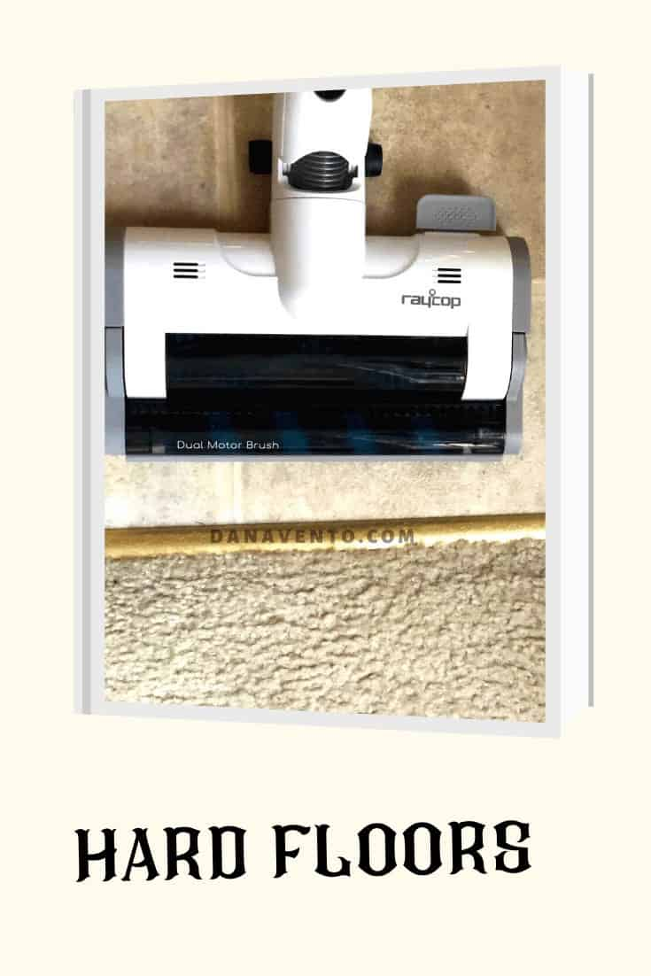 Raycop Vacuum, Omni Power UV+ Cordless Vacuum, dual motor brush head, floors