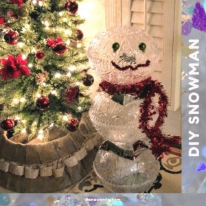 Easy To Make DIY Snowman With Dollar Tree Products