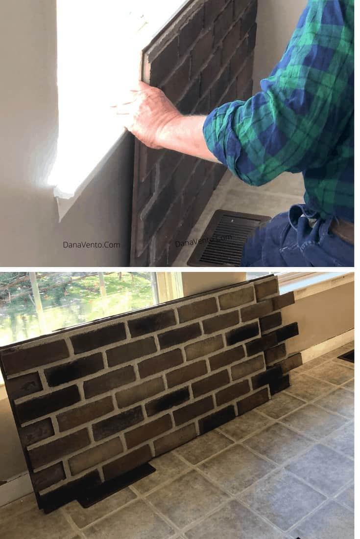 DIY Interlocking Rustic Brick Faux Wall bottom panels