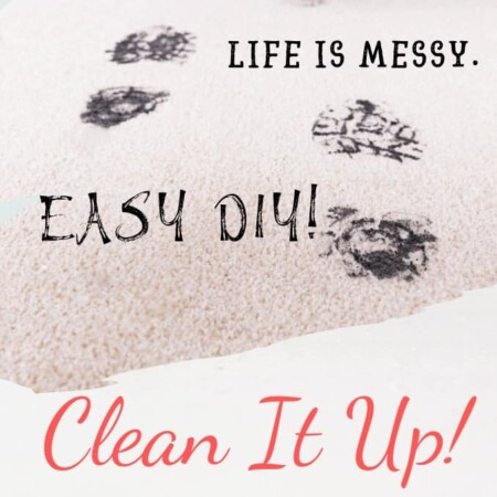 life is messy, clean it up. new year, new you, footprints