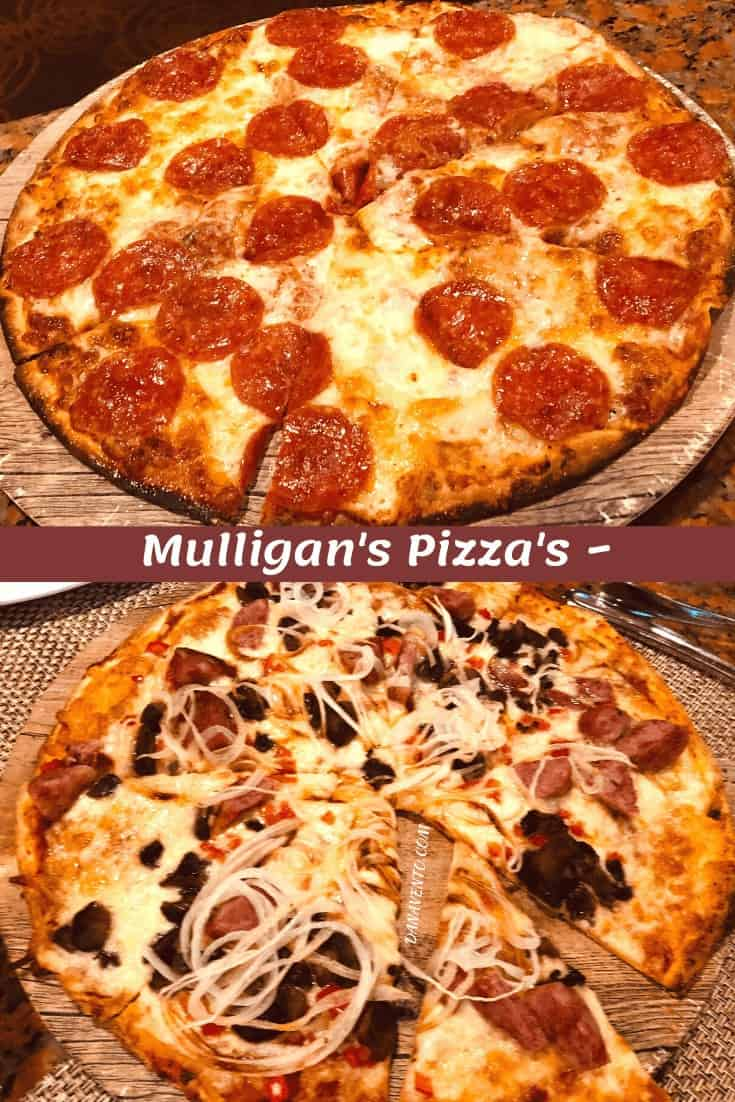 Pizza at Mulligan's. Mega All-Inclusive Package with great eats