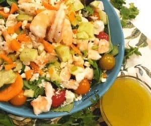 shrimp feta salad