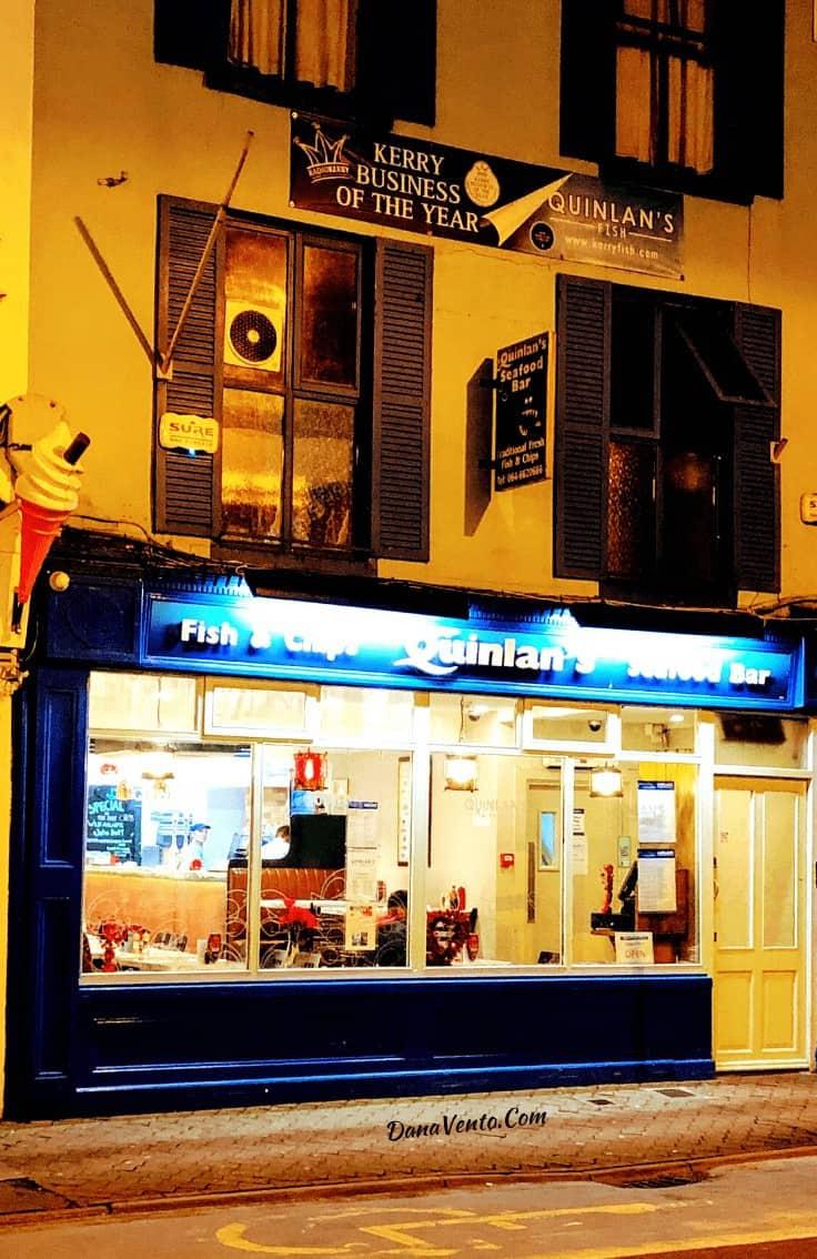 QUINLAN'S Seafood Bar exterior shot Killarney