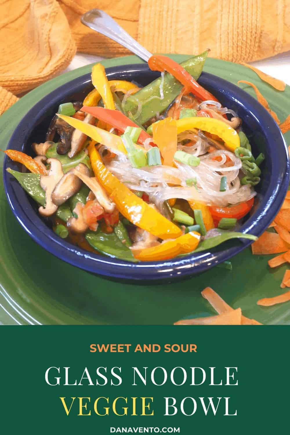 Sweet and Sour Glass Noodle Veggie Bowl
