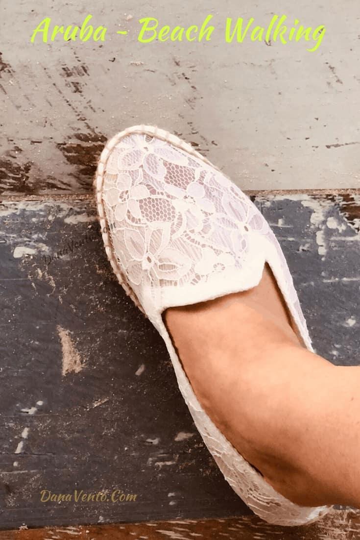 walking the beach in Divi Resorts, Dana's Feet