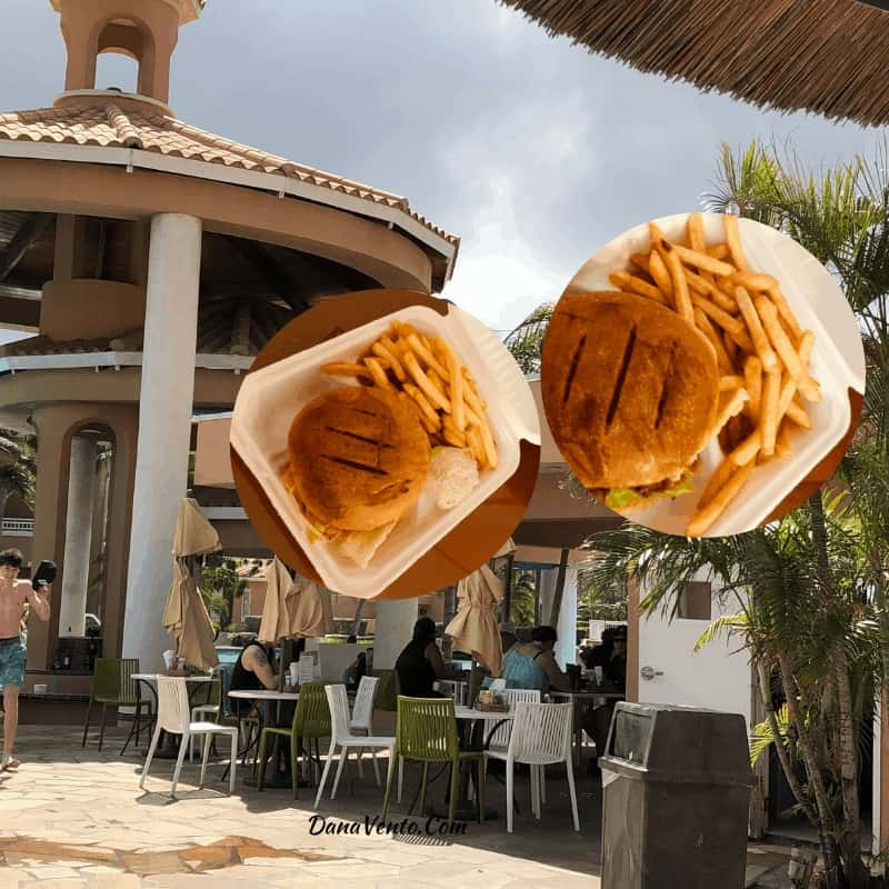 Food Allergies & Infinity Pool Grill burgers in Aruba at Divi Village Golf and Beach Resort
