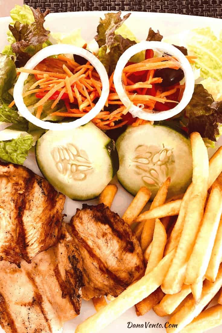 Chicken and Fries at Seabreeze Divi Resorts in Aruba