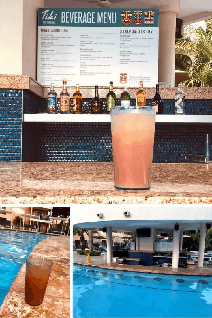 Tiki Bar Divi Dutch Village Pool. Mega All-inclusive package Aruba resort