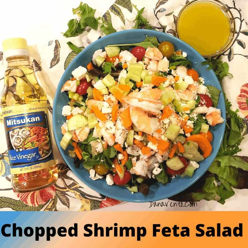 rice vinegar and shrimp feta salad
