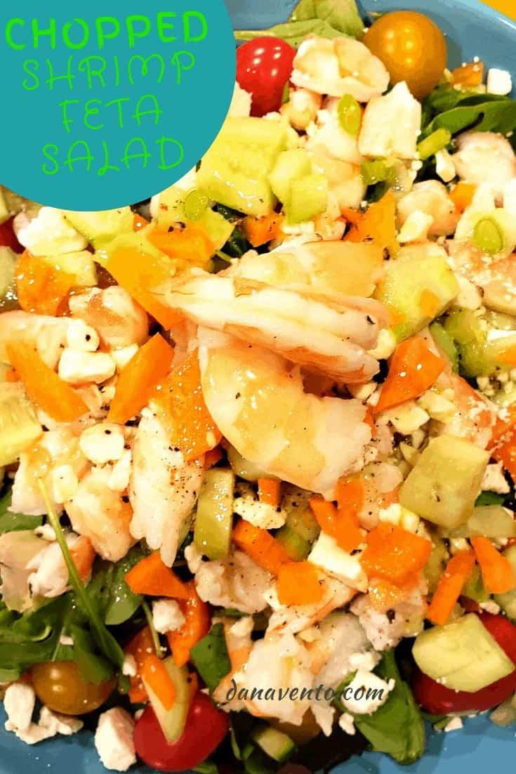 shrimp feta salad up close