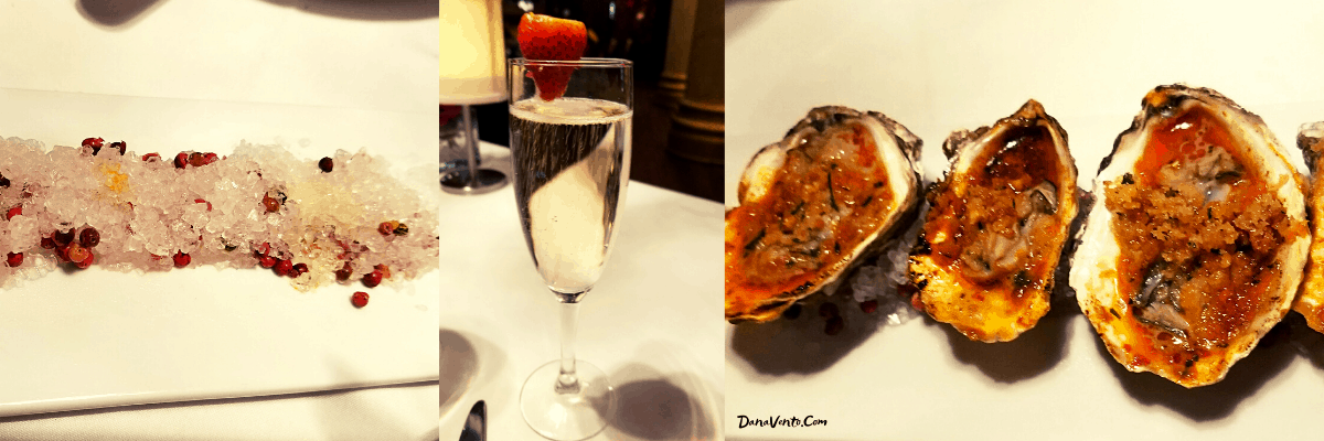 Butter Baked Oysters at spectacular Vegas Steakhouse EDGE