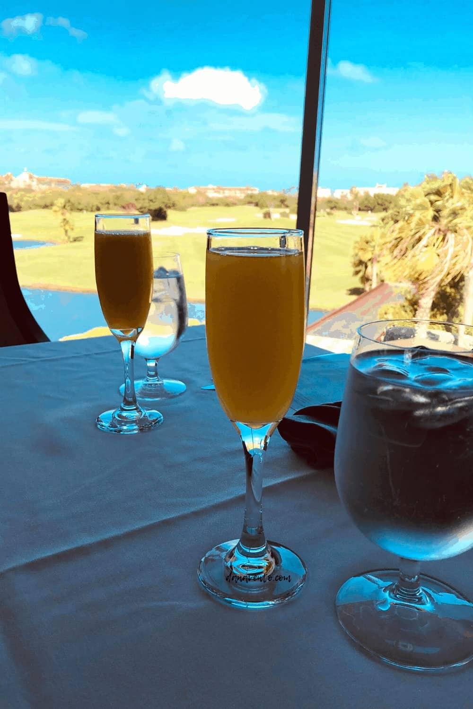 champagn at windows on aruba