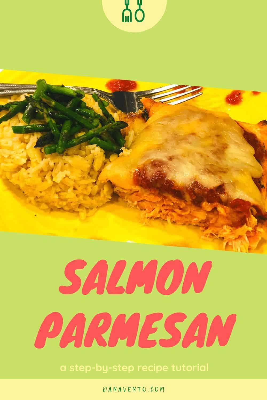 salmon parmesan on plate