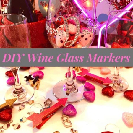wine markers on glass