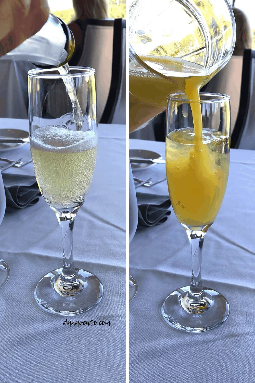 Mimosa Champagne and OJ at Windows on Aruba