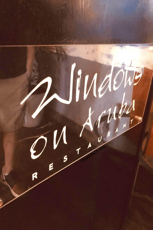 WINDOWS on Aruba sign
