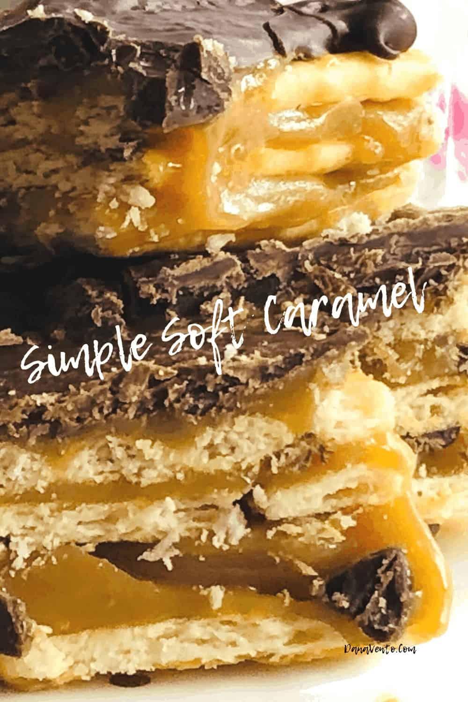 caramel in buttery crackers bar
