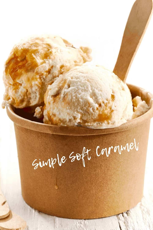 ice cream and caramel