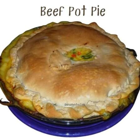 Beef Pot Pie Baked