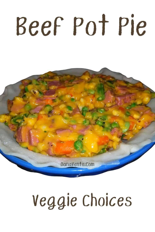 Beef Pot Pie Veggies
