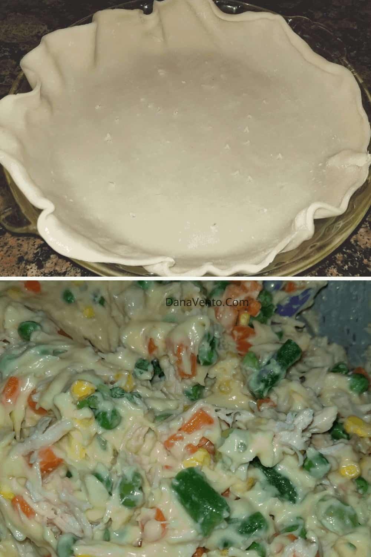 pie shell in savpory chicken pot pie