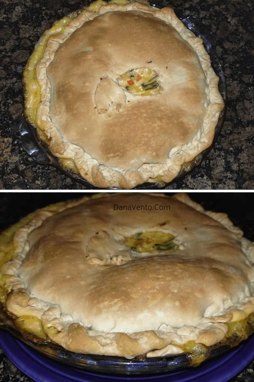 double view of pot pie