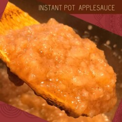 Applesauce from Instant Pot on spoon