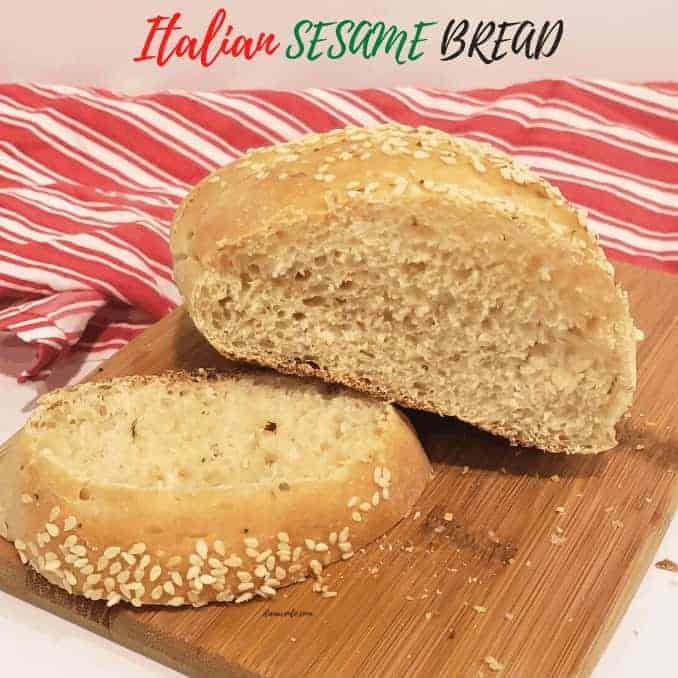 Mini Loaves of Italian Sesame Bread
