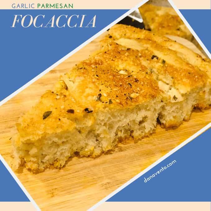 Garlic Parmesan Focaccia Bread one piece solo featured