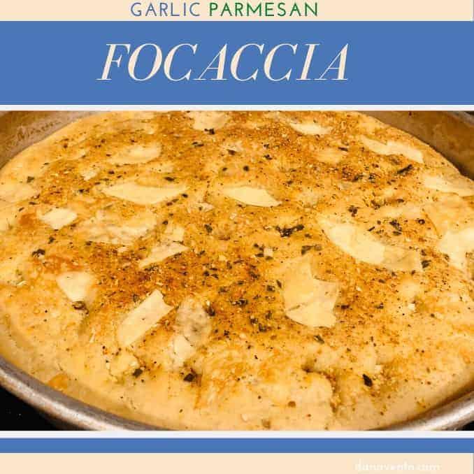 Garlic Parmesan Focaccia Bread whole loaf