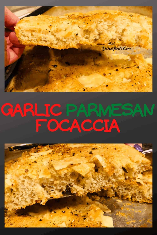 Garlic Parmesan Focaccia Bread after baking