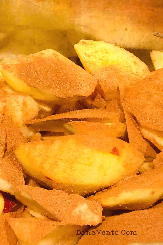cinnamon on apples