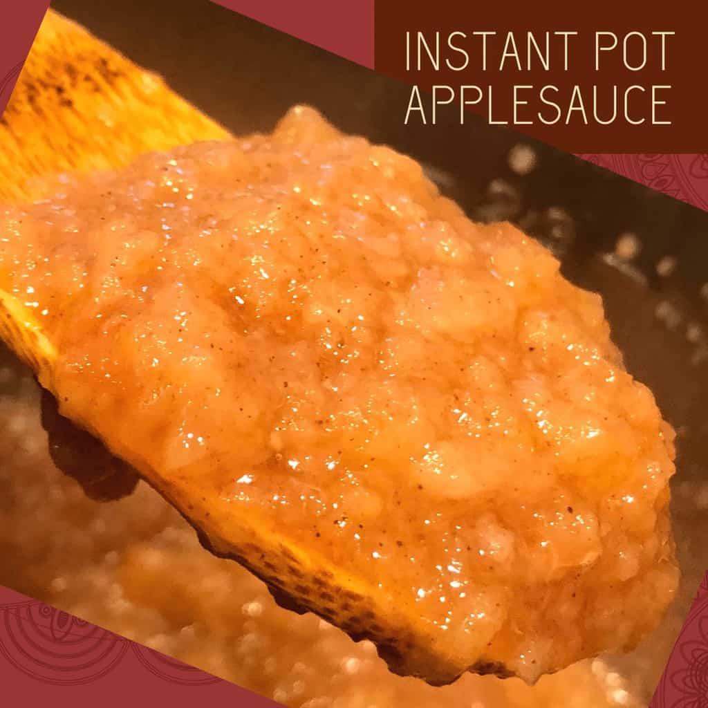 spoon of applesauce
