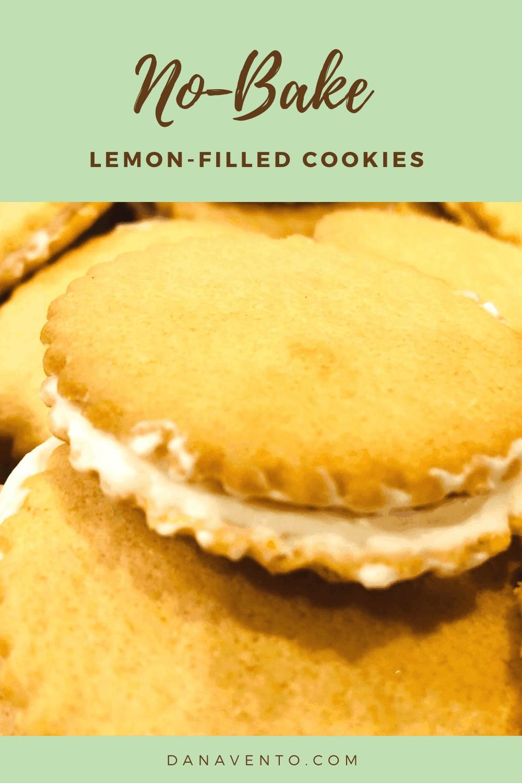 no-bake lemon filled cookie on side