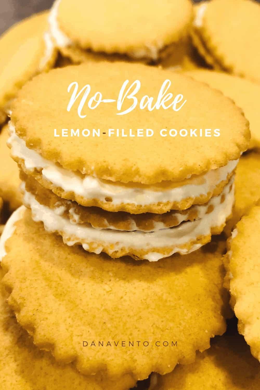 lemon filling on cookie