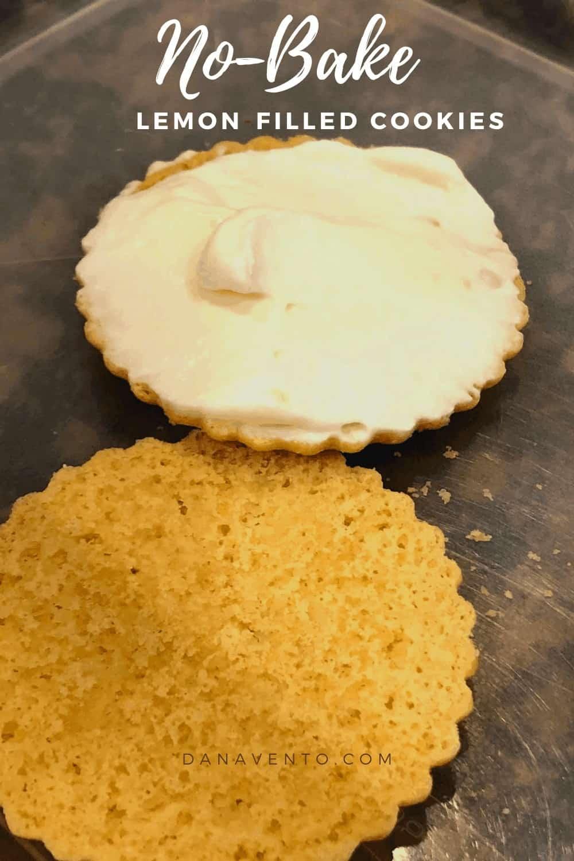 lemon filling in cookie