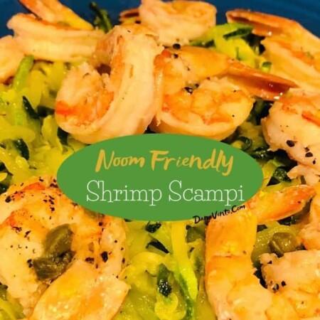 Noom Friendly Shrimp Scampi on plate