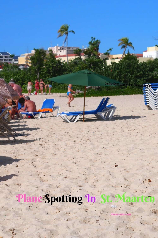Plane Spotting In St. Maarten Beach Chairs
