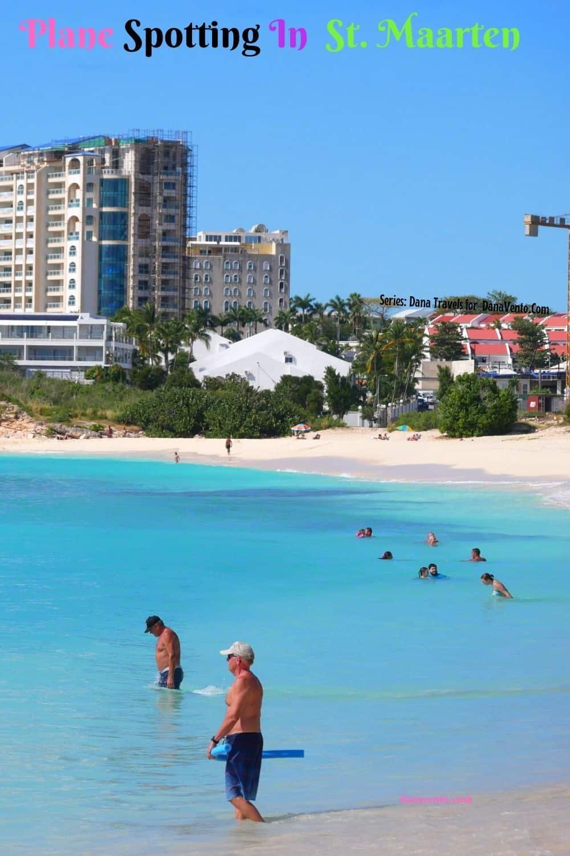 Plane Spotting In St Maarten Beach People Waiting