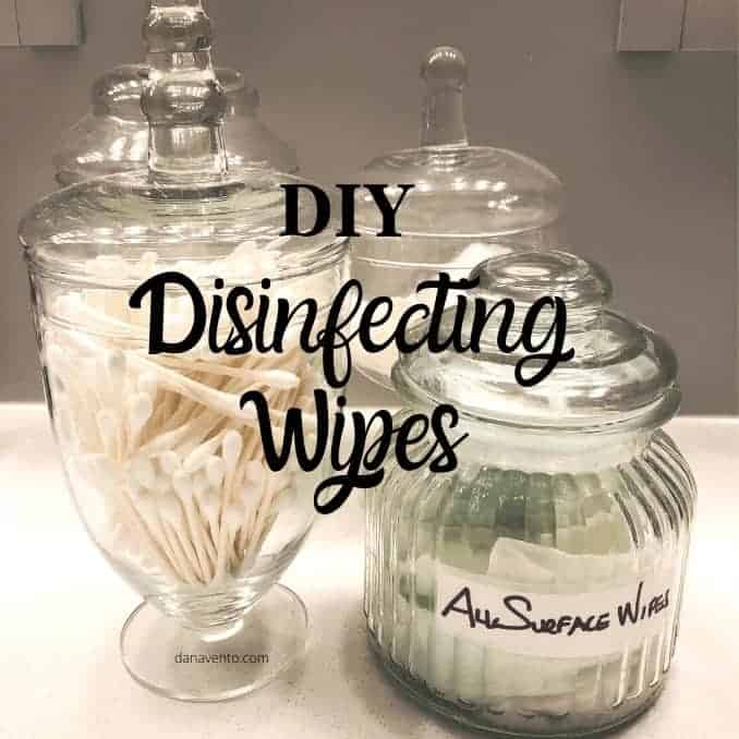 DIY Wipes on counter